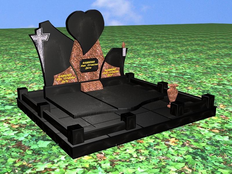 Памятники на могилу 3d фото Эконом памятник Башня с профильной резкой Енисейск